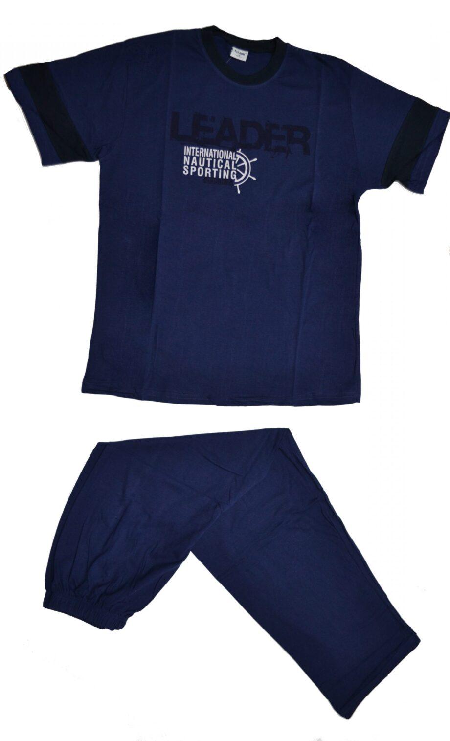 Ανδρική-πιτζάμα-leader-κοντομανικη-μπλε-scaled-1.jpg