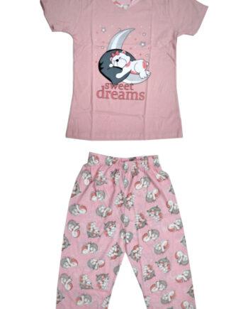 Γυναικεία-πιτζάμα-Ροζ-Sweet-Dreams-με-Κάπρι-παντελόνι.jpg
