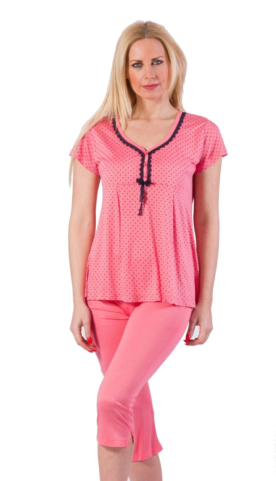 Γυναικεία-πιτζάμα-ZEN-Intimates-Ροζ-πουά-scaled-1.jpeg