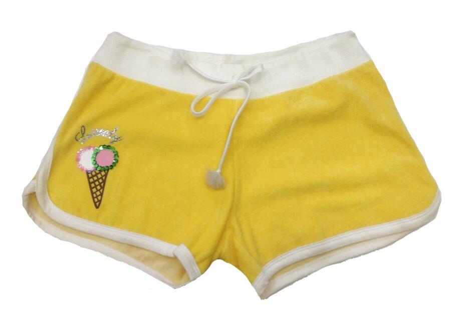 Γυναικείο-Κοντό-Σορτς-MINERVA-Κίτρινο-Πετσετέ-scaled-1.jpeg