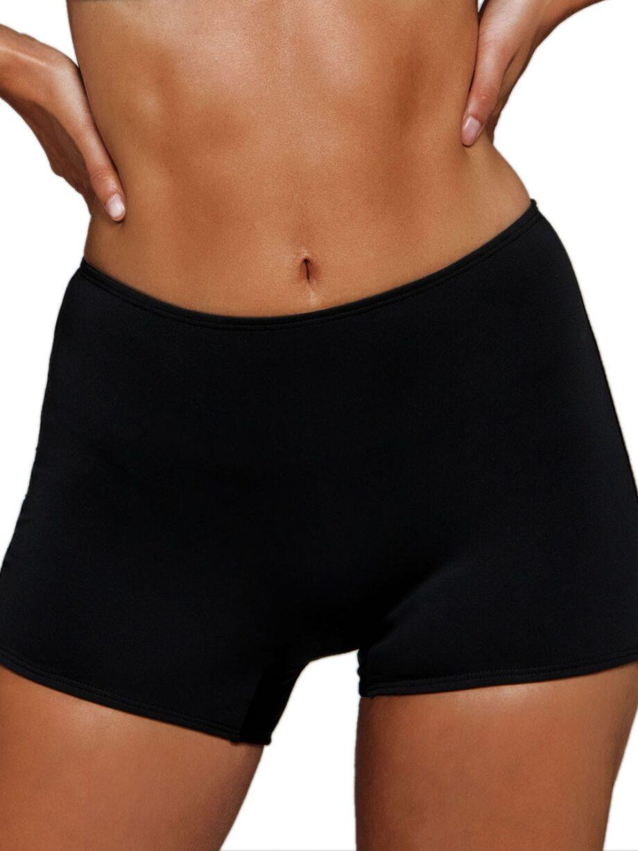 Γυναικείο-Μαγιό-Bikini-Bottom-BLU4U-Solids-Boxer-Μαύρο.jpg