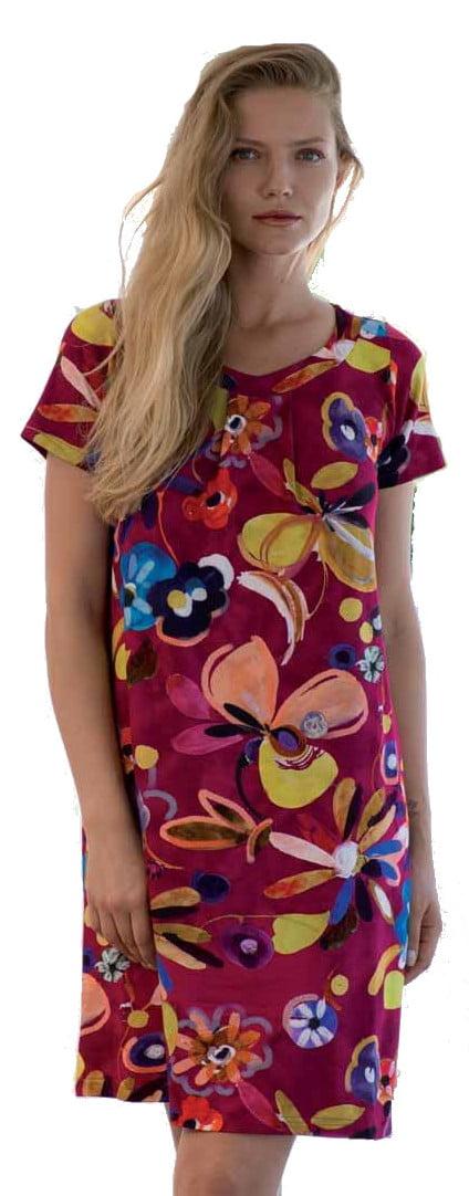 Γυναικείο-Φόρεμα-AKUA-Κόκκινο-Φλοραλ-κοντομάνικο-1.jpg