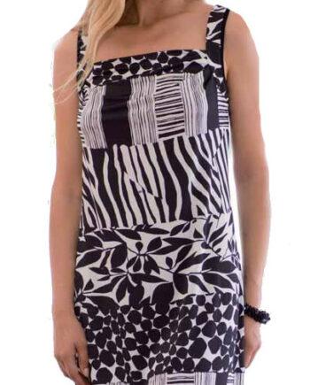 Γυναικείο-Φόρεμα-Frasi-Ασπρόμαυρο-Τιράντα-1.jpg