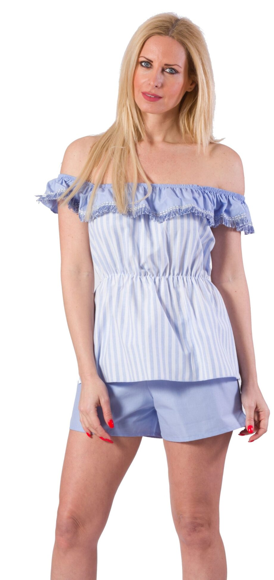 Γυναικείο-Top-παντελόνι-ZEN-Intimates-Beachwear-Μπλε-Ριγέ-scaled-1.jpeg