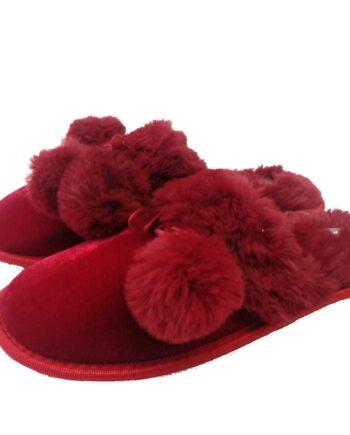 Γυναικιες-παντόγλες-κόκκινες-με-φούντες-Noidinotte-scaled-1.jpeg