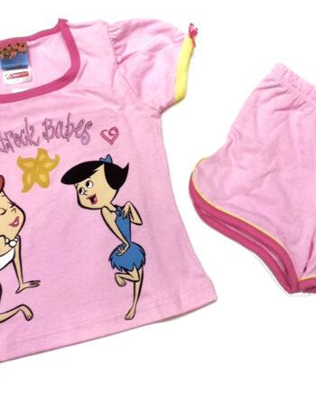 Παιδική-πιτζάμα-MINERVA-Κορίτσι-Flinstones-Ροζ-.jpeg
