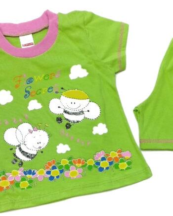 Παιδική-πιτζάμα-MINERVAKIA-Κορίτσι-Λαχανί-Bees.jpeg