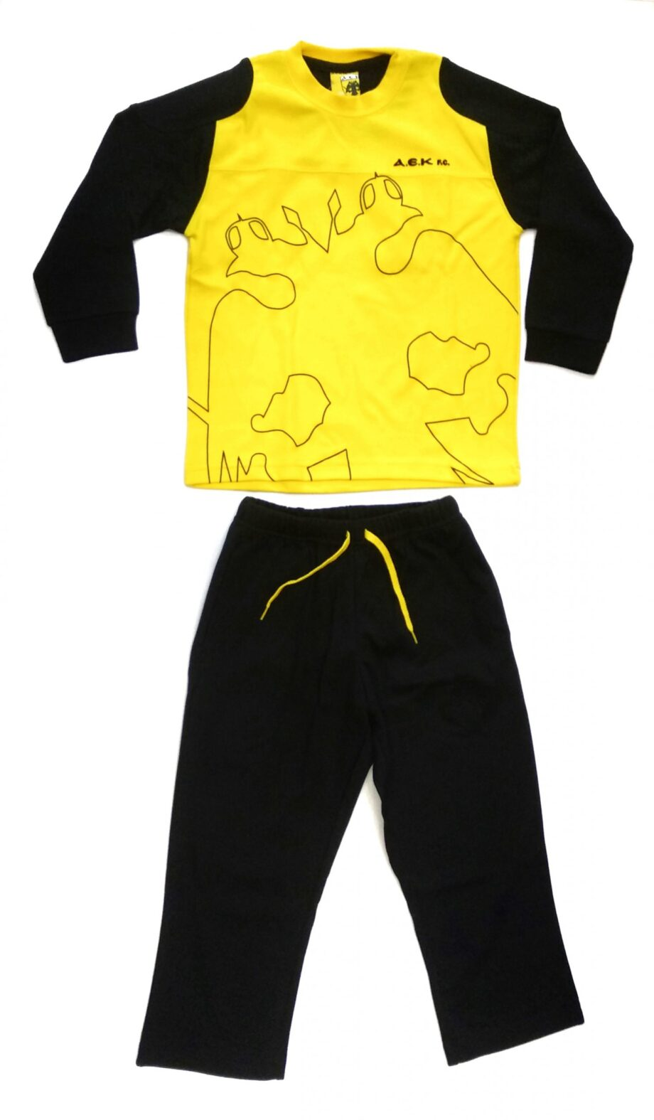 Παιδική-πιτζάμα-ΑΕΚ-κίτρινο-μαύρο-scaled-1.jpeg