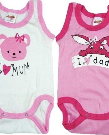 Φορμάκια-Φανελάκια-MINERVA-Κορίτσι-Mum-Dad-Λευκό-Ροζ-.jpeg