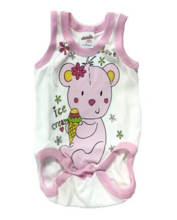 Φορμάκι-Φανελάκι-MINERVA-Κορίτσι-Bear-Ice-Cream-Λευκό-scaled-1.jpeg