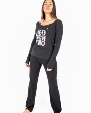 moschino pijama woman black