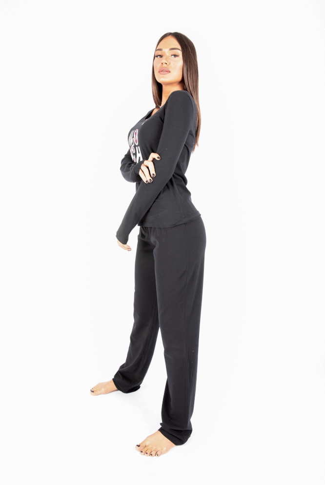 moschino pijama woman black side