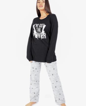 secret point i've got the power pijama front