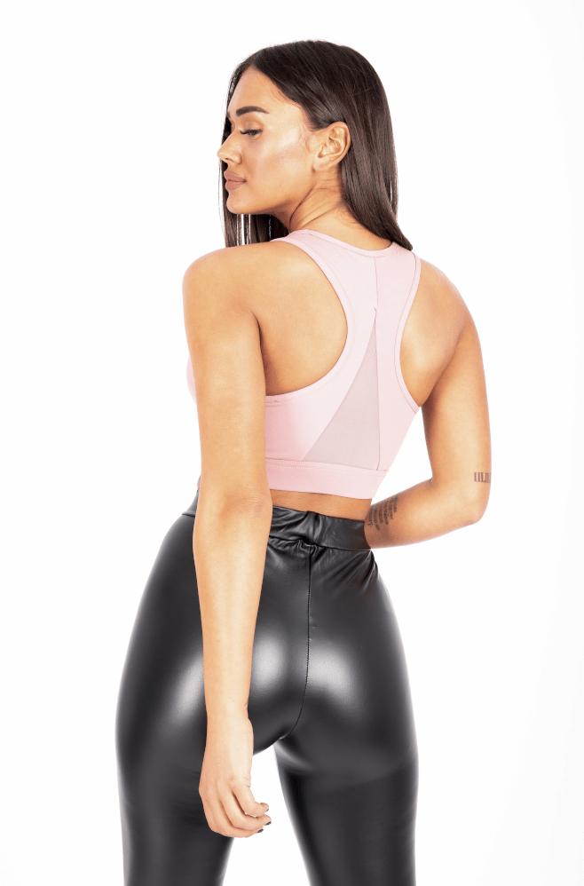 Αθλητικό Μπούστο Dusty Pink back