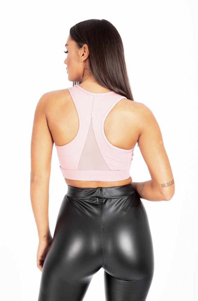 Αθλητικό Μπούστο Dusty Pink back1