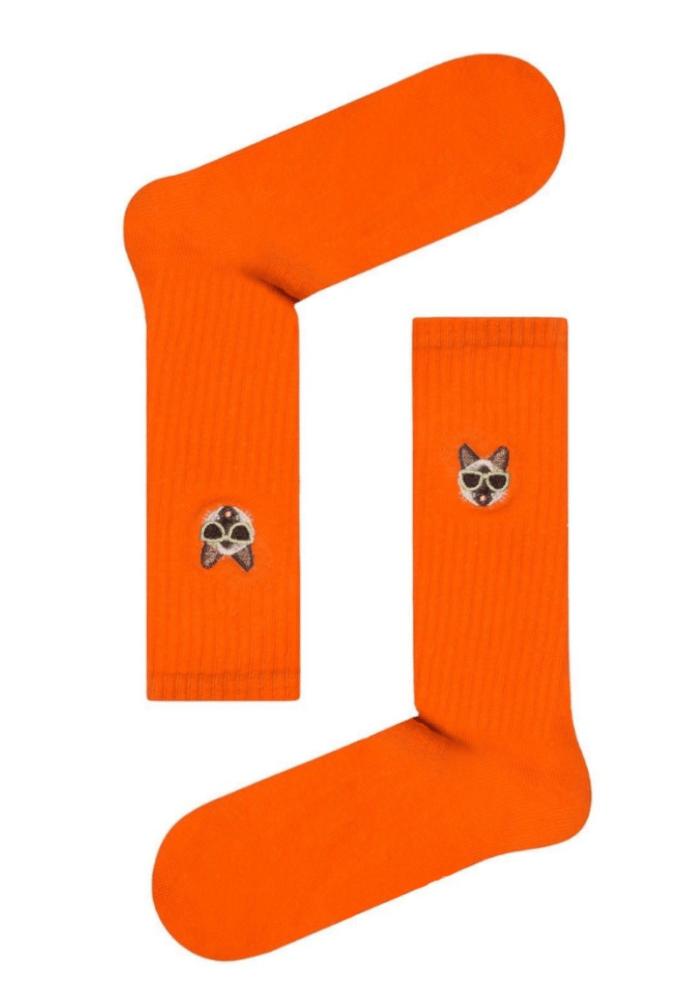 Κάλτσα unisex Cat orange