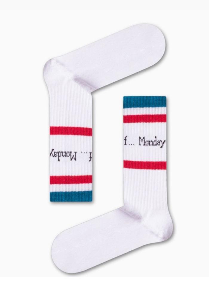 Κάλτσα unisex f.... Monday white