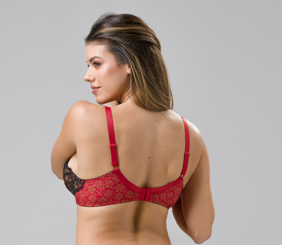 Burlesque 14101 underwired balconette red back