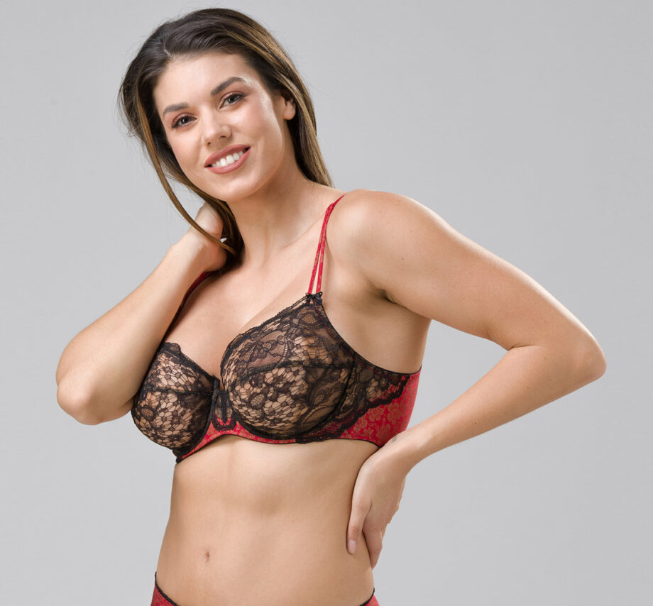Burlesque 14101 underwired balconette red side