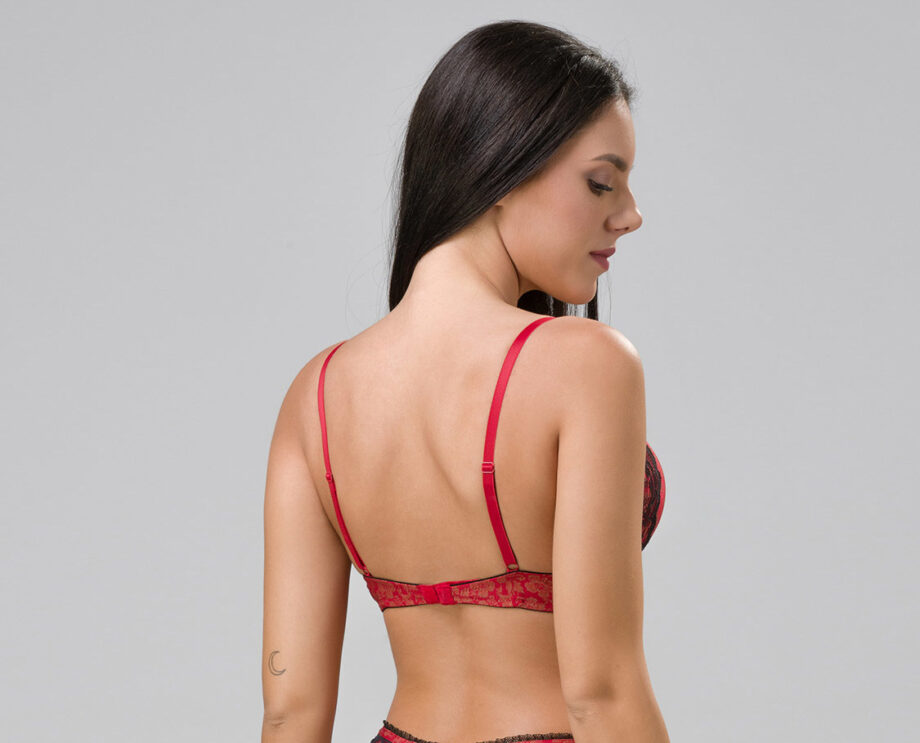 Burlesque 14102 super push-up red back