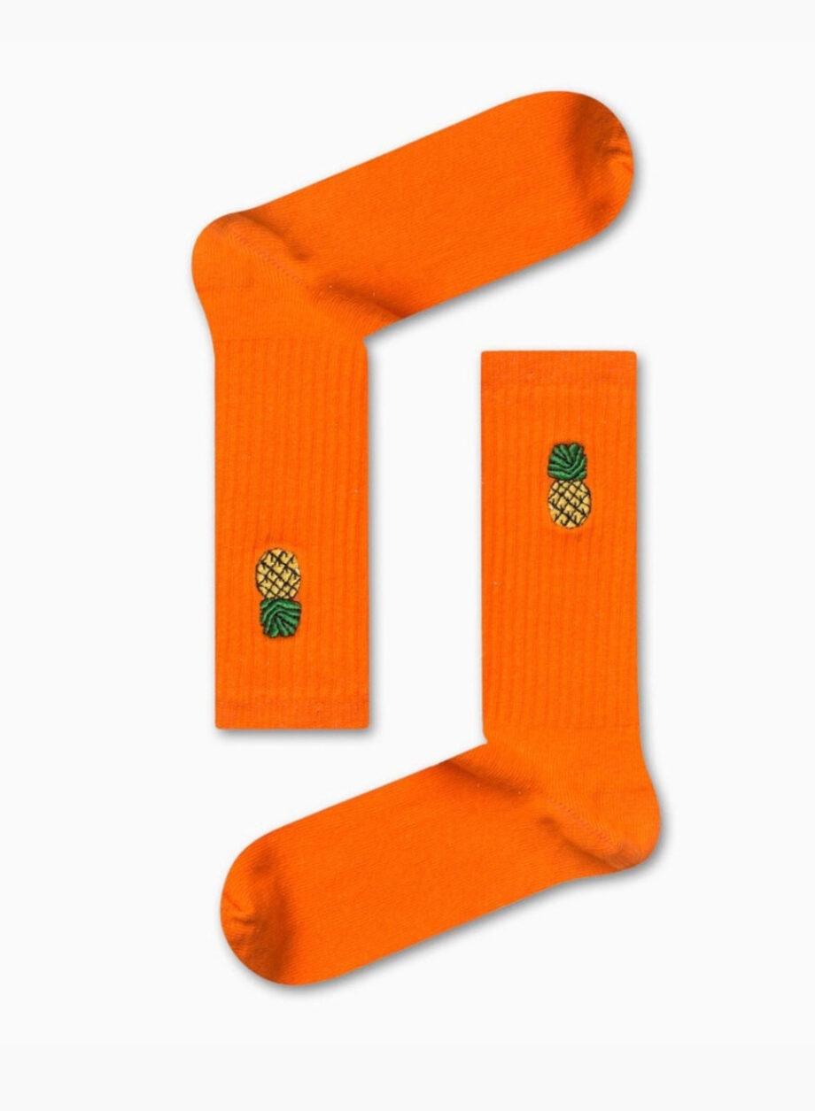 orange pineapple socks