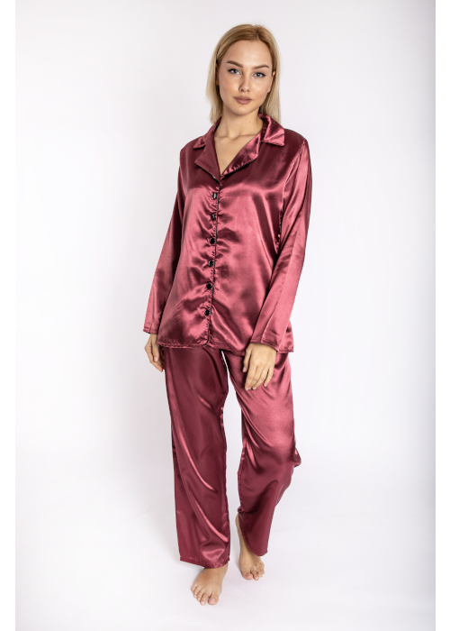 pijama_satin_bordeaux_front
