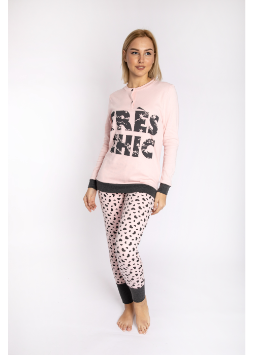 pijama_tres_chic_pink_front