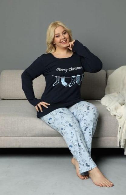 Merry Christmas pijama blue 60193