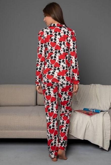 Panda hearts pijama koumpwti back 59006