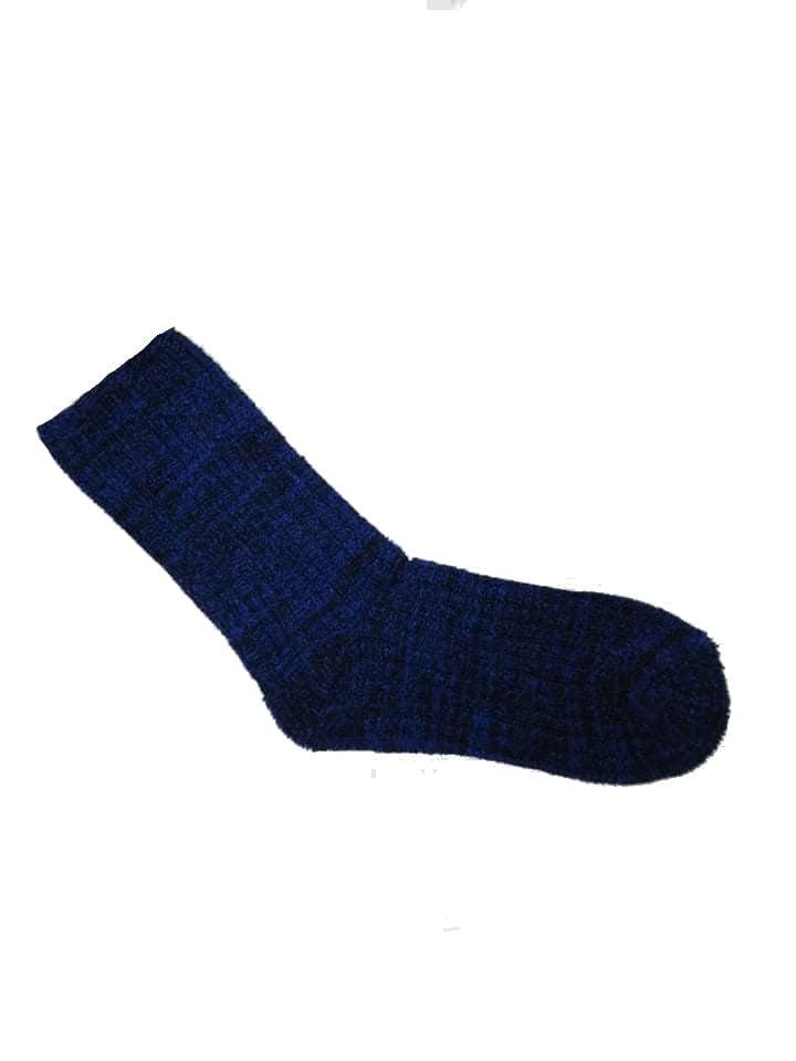 Fleece socks blue