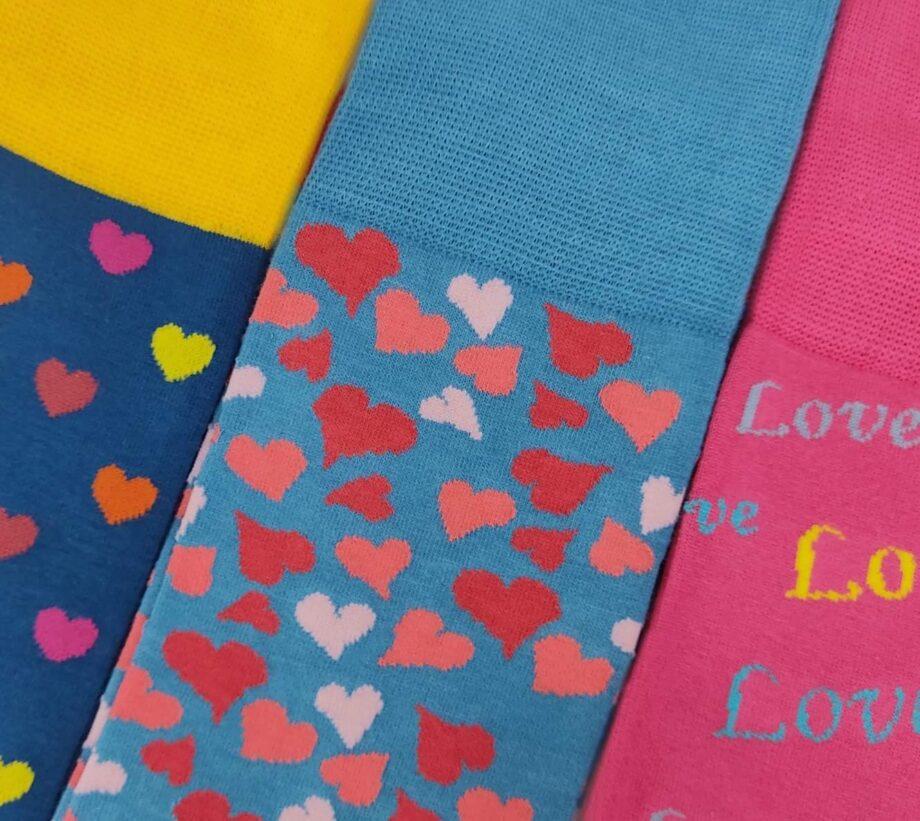 pournara 3pack love socks